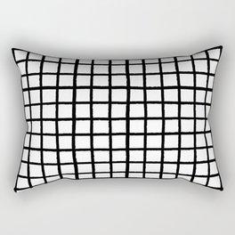 Ink Checks Black/White Palette Rectangular Pillow