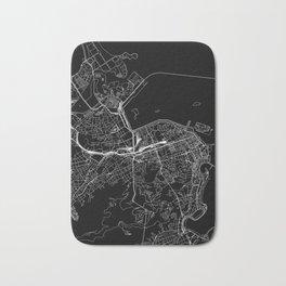 Rio De Janeiro Black Map Bath Mat