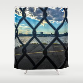 Gate-scape NYC Shower Curtain