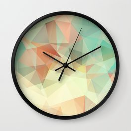 Polygon picture. Oasis in the desert. Wall Clock