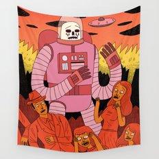 Alien Invader Wall Tapestry