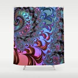 Metallic Fractal Shower Curtain