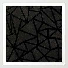 Ab Marble Zoom Black Art Print