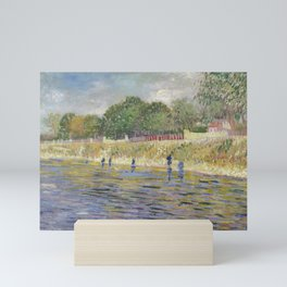 Bank of the Seine by Vincent van Gogh Mini Art Print
