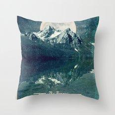 Sawtooths: Stanley Lake Throw Pillow