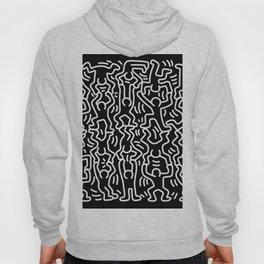 Figures Variation Keith Haring Black Hoody