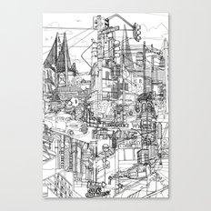San Francisco! (B&W) Canvas Print