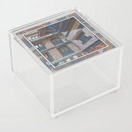 BHAKTAPUR NEPAL BRICKS WINDOWS WIRES Acrylic Box