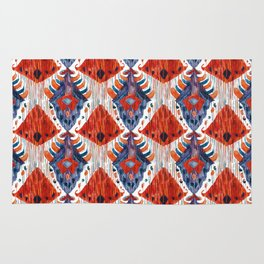 crush balinese ikat mini Rug