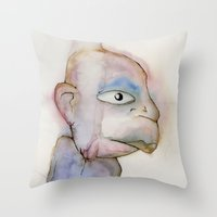 the dude Throw Pillows featuring Dude by Zorko