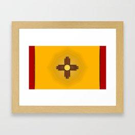 Fancy Flag:  New Mexico Framed Art Print