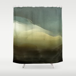 The ice that hides in the desert Shower Curtain