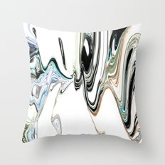 A Beautiful Fluid Abstract Throw Pillow