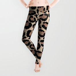 Tan Leopard Print Leggings