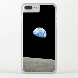Earthrise Clear iPhone Case