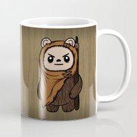 ewok Mugs featuring Cartoon Ewok by Team Rapscallion