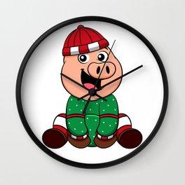 Cute little Pig Piglet Piggy Hog Pork Porky Gift Wall Clock