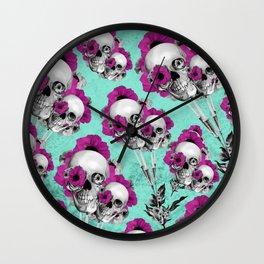 Evolution of poppies, skull pattern.  Wall Clock