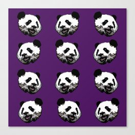Graphic Panda Print Canvas Print