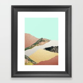 Metallic Mountains Framed Art Print