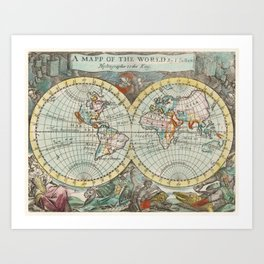 Ancient World MAP Art Print