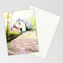 Beautiful Cottage Garden Painting Stationery Cards