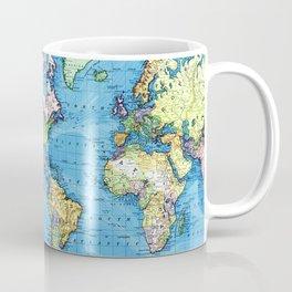 Mercator Map of Ocean Currents Coffee Mug