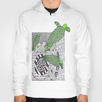 turtles Hoodies featuring Turtles by Kandus Johnson