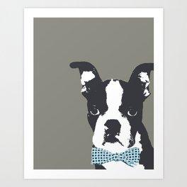 Boston Terrier with a Bow Tie Art Print Art Print