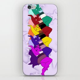 Amethyst Falling in a Cool Color Palette iPhone Skin