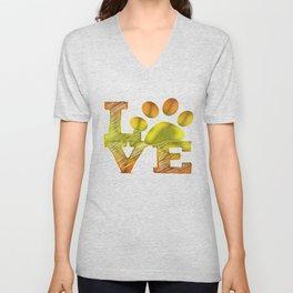LOVE pawprint Unisex V-Neck