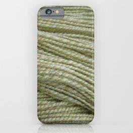 Yellow, light green handspun yarn iPhone Case