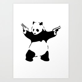 Panda, Banksy, Graffitti Art Print
