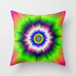 Explosive Tie-Dye Throw Pillow