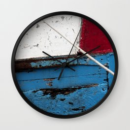 red blue white Wall Clock