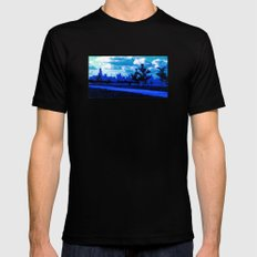 Chicago Skyline Mens Fitted Tee SMALL Black