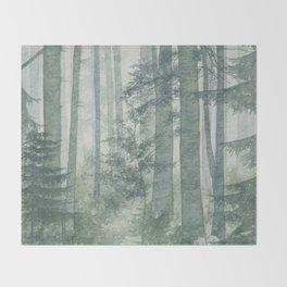 Misty Forest Throw Blanket