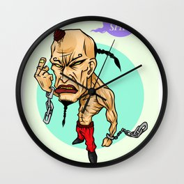 angry guy Wall Clock
