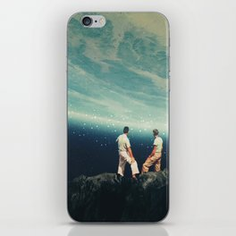 The Earth was crying and We were there iPhone Skin