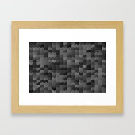 Slick Black tiles Framed Art Print