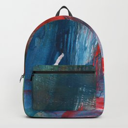 Combed Through Blue and Red Backpack