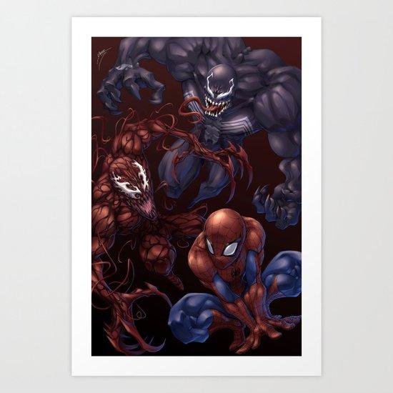 Spider, spider, spider Art Print
