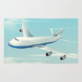 See America By Air Commercial Airliner travel poster. Rug