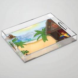 """Welcome to Polynesian Paradise"" Acrylic Tray"
