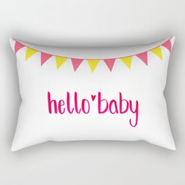 Hello Baby! It's your Birth-Day. Rectangular Pillow
