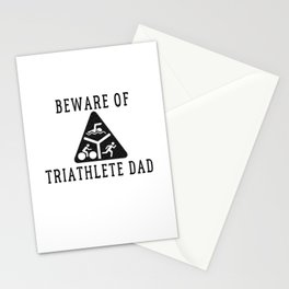 Funny Triathlete Dad Quote Stationery Cards