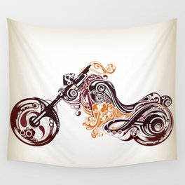 Abstract Motorcycle Wall Tapestry