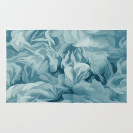 Soft Baby Blue Petal Ruffles Abstract Rug