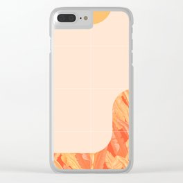 Mid-Century Tropical Orange Way #society6 #tropical Clear iPhone Case