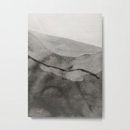 Ink Layers Metal Print